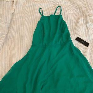 Lulus green skater dress size: S